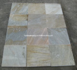 Yellow Wood Vein Culture Stone Slate Tile