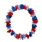 42pack Colorful Fiber Flower Leis Hawaii Garland Necklace Lei, Party Decoration