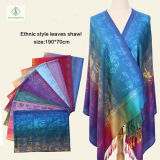 New Lady Fashion Pashmina Shawl Ethnic Style Soft Characters Scarf