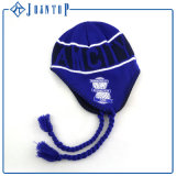 Wholesale Fashionable Warm Acrylic Earflap Hat with Embroidery Label