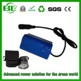 Head LED Front Bicycle Light Battery 7.4V 4ah DC Interface