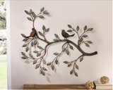 Iron Art Bird Tree Branch Removable Art Home Decoration