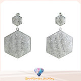 925 Sterling Silver White Stone Earrings Stud Earrings with Clear CZ Stone Fits European Jewelry (E6419)