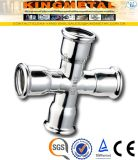 F304/316 Stainless Steel Equal Cross Press Fittings