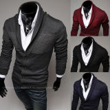 Winter/Autumn V Neck Thin Men Woolen Sweater Cardigan