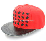 Hot Sale Fashion Red 6 Panel Snap Cap