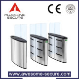Sliding Tempered Glass Flaps Entrance Barrier Access Control