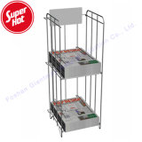 Cheap Metal Floor Tabloid Stands Sale Library Office Hotel Outdoor Newspaper Display