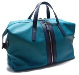 PU Travel Bag with Front Zipped Blue