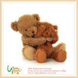 Valentine Gift Soft Plush Borown Sitting Teddy Bear Toy