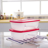 Large Size 2PCS Rectangle Food Containers Household Plastic Products