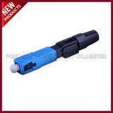 3.0mm FTTH Fiber Optical Singlemode SC UPC Fast Connector Drop Cable