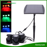 3PCS*6 LED Solar Light Auto on Outdoor RGB Garden Light Landscape Yard Lawn Light IP68 Swimming Pool Lights Pond Underwater Spotlight