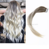 2019 New Style Salon Balayage#8/60 10A Remy Human Virgin Natural Hair Extension Tape Hair