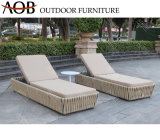 Modern Outdoor Garden Hotel Resort Home Villa Furniture Rope Beach Chair Sun Lounger Daybed Sunbed