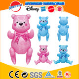Custom Promotion Gift Inflatable Plastic Pink Blue Teddy Bear Toy for Kids