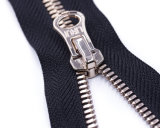 Metal Zipper with Shiny Light-Gold and Coloured Tape