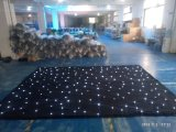 LED White Star Twinkling Curtain for Wedding Stage Show Black Curtain Backdrop