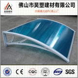 800*1200mm Polycarbonate Clear Twin Wall Hollow Awning Aluminum Frame Balcony Window Door Canopy Outdoor Buliding Materials Easy Installation