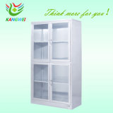 Stainless Steel Glass Door Display Cabinet for Hospital Drugs Slv-D4011