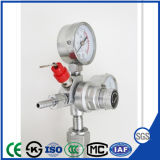 Filling CO2 Pressure Regulator with Ce