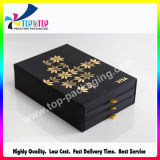 Golden Foil Hot Stamping Drawer Packaging Box for Perfume Make up Tools