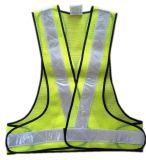 Mesh Fabric Reflective Safety Vest with PVC Tape