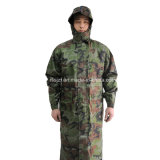 Military Outdoor Camping Long Type Raincoat with Hood