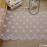 20cm Trimming Wholesale Embroidery Border White Yarn Lace Garment Accessories