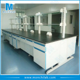 C Frame Steel and Wood Material Physics Lab Bench