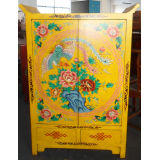 Chinese Antique Hand Painted Wooden Cabinet Lwb782