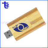 Engraved Logo Custom Swivel Maple Wood Memory Stick Flash Drive
