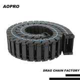 Bridge Opening Nylon Towline Plastic Cable Drag Chain Carrier Chain for 	CNC Router Machine