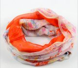 BSCI 100% Polyester Flower Printed Women Tube Scarf for Spring