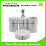 4 PCS Ceramic Bathroom Accessories for Bath Ornament