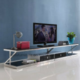 TV Stand Set with Living Room Stainless Steel