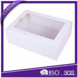 Large Size Clear Window Foldable Wine Gift Packaging Box