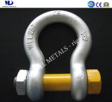 Galv. Us Type Drop Forged G2150 Bow Shackle Rigging Hardware