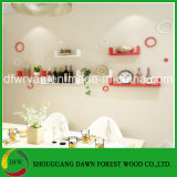 Home Furniture General Use Particle Board Decorative Wall Shelf
