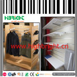 Wooden Slatwall Board Revolving Floor Display Stand