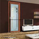 Interior Docoration Aluminum Living Room Door with Single Grinded Edge Glass Panel