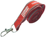 Custom Fashion Cheap Promotion Fabric Polyester Lanyard with Card Holder