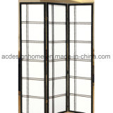 Artistic Chinese Japanese Simple Style 3 Sections Non-Woven/Wooden Folding Shoji Screen