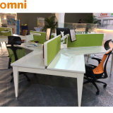 Fashionable 120 Degree Office Desk for Three Person