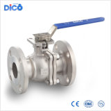 Ce API Stainless Steel 2PC Floating Flanged Ball Valve with 304 Handle