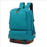 Men's Backpack Shoulder Bag Travel Camping School Canvas Satchel Mint Green Bag