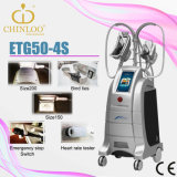 2015 Newest Equipped with Four Working Head Cryolipolysis Liposuction Fat Dissolving Handle Beauty Slimming Machine (ETG50-4S)