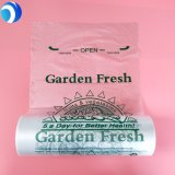 Printing HDPE PE Plastic Plastic Food Storage Degradable Compostable Supermarket Special Fruit Vegetables Flat Bags on Roll