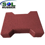 Driveway Recycled Rubber Flooring Tile