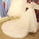 Beading Wedding Gown Stock 3D Flowers Bridal Wedding Dress E17913